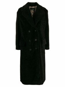 Ermanno Ermanno textured furry coat - Black