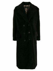Ermanno Ermanno textured furry coat - Black