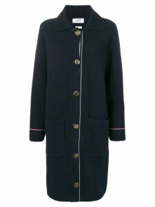 Thom Browne Duffle Coat In Overwashed Cashmere Blend With RWB TIpping