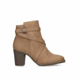 Carvela Comfort Tara - Tan Block Heel Ankle Boots