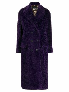 Ermanno Ermanno textured furry coat - Purple