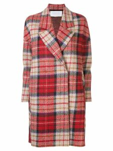 Harris Wharf London check trench coat - Red