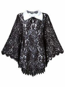 Martha Medeiros lace overlay dress - Black
