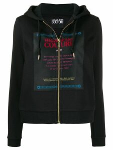 Versace Jeans Couture logo patch hoodie - Black