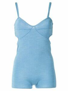 Reinaldo Lourenço cut out knit bodysuit - Blue