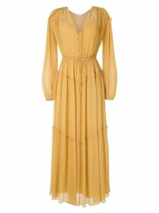 Nk Flow Vic silk dress - Yellow