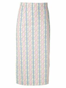 Reinaldo Lourenço printed midi straight skirt - Multicolour