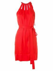 Reinaldo Lourenço cut out short dress - Red