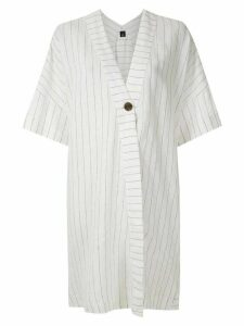 Osklen panelled linen shirt dress - White