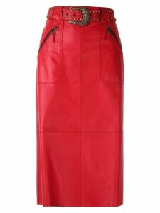 Nk Mestico Ruth leather skirt - Red