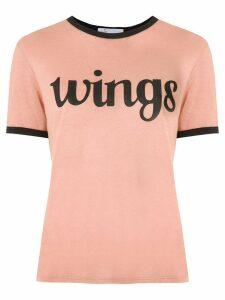 Nk printed linen T-shirt - Brown