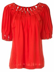 Reinaldo Lourenço cut out blouse - Red