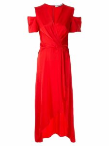 Reinaldo Lourenço Cachequer midi dress - Red
