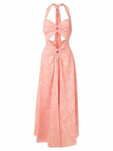 Reinaldo Lourenço cut out embroidered dress - Pink
