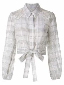 Nk Country Jin checked shirt - White