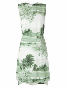 Osklen Sleeveless Sixties printed dress - Green