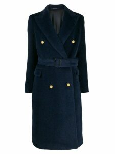 Tagliatore double breasted midi coat - Blue