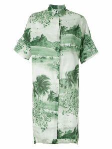Osklen RJ print shirt dress - Green