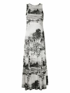 Osklen printed maxi dress - Multicolour