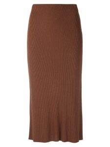Osklen knit midi skirt - Brown