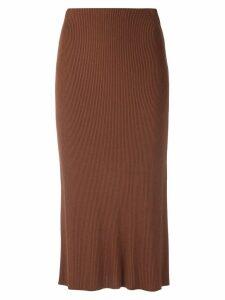 Osklen knit midi skirt - Brown