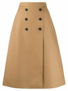 Rochas double-breasted skirt - Brown