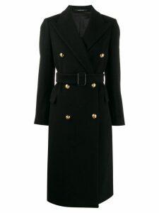Tagliatore double breasted midi coat - Black