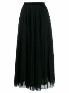 Ermanno Ermanno pleated tulle skirt - Black