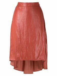 Uma Raquel Davidowicz Malone silky midi skirt - Red