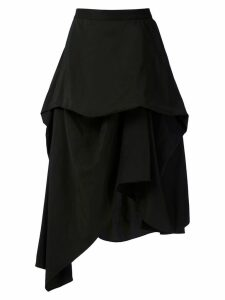 Uma Raquel Davidowicz Miami asymmetric layered skirt - Black