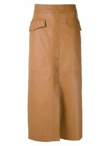 Nk Mestico Ella leather skirt - Brown