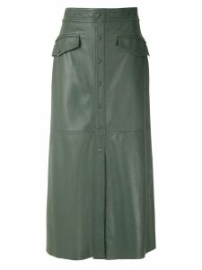 Nk Mestico Ella leather skirt - Green