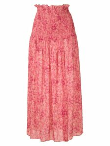 Adriana Degreas floral midi skirt - Pink