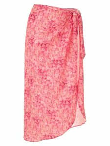 Adriana Degreas floral print beach skirt - Pink
