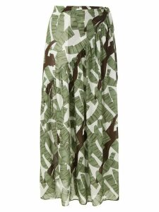 Adriana Degreas printed beach skirt - Green