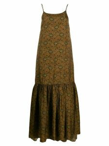 Uma Wang floral print dress - Brown