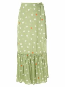 Adriana Degreas polka dot beach skirt - Green