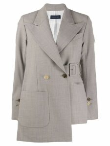Eudon Choi asymmetric buckle blazer - Neutrals