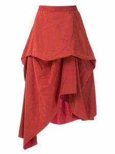Uma Raquel Davidowicz Miami asymmetric layered skirt - ORANGE