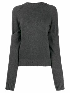 Eudon Choi slouchy knit jumper - Grey