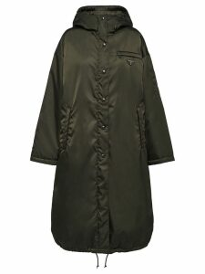 Prada gabardine puffer coat - Green