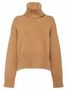 Prada roll neck cashmere jumper - Brown