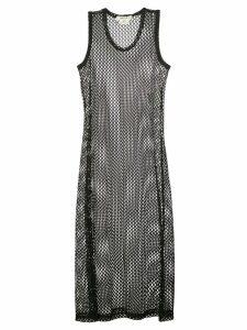 Comme Des Garçons knitted net dress - Black