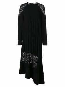 Tibi Guipure lace panel dress - Black