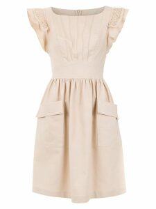 Martha Medeiros short flared dress - Neutrals
