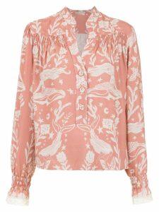 Martha Medeiros Paris printed top - Pink