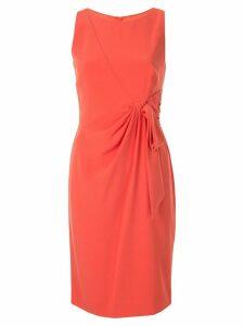 Paule Ka draped bow fitted dress - Orange