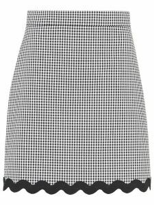 Miu Miu gingham check gabardine skirt - Black