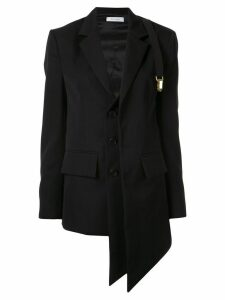 Delada asymmetric wool blazer - Black