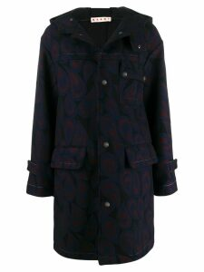Marni hooded wool coat - Black